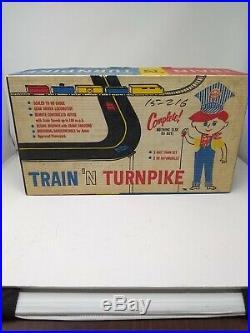 Vintage Marx Train N Turnpike Union Pacific Train And Slot Car Set, Very Rare