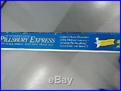 Vintage Pillsbury HO express model Train set, New in original box Very Rare