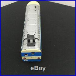Vintage Trade Mark Modern Toys Tin Metal Battery Engine Train Set Very Rare