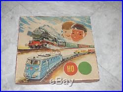 Vintage Train Set H0 Scale by Western Germany 50s Very Rare